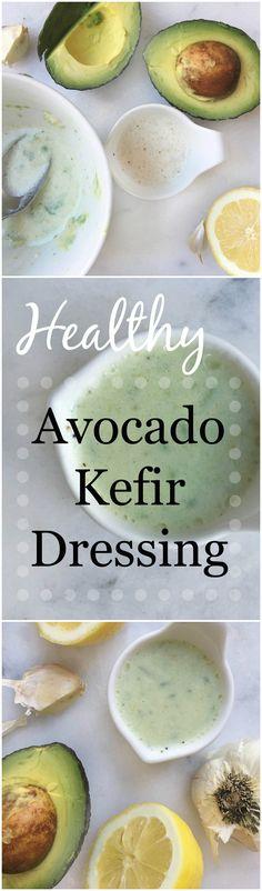 Easy Healthy Homemade Avocado Kefir Dressing!