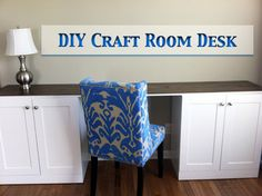 DIY Craft Room Desk---from Letsgetcrafty.org.  This is exactly what I need - help me to hide my clutter.