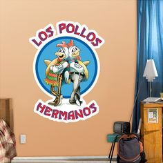 """""""Los Pollos Hermanos"""" Fathead http://www.breakingbadstore.com/los-pollos-hermanos-fathead/details/28761339?cid=social-pinterest-m2social-product_country=NL=share_campaign=m2social_content=product_medium=social_source=pinterest"""