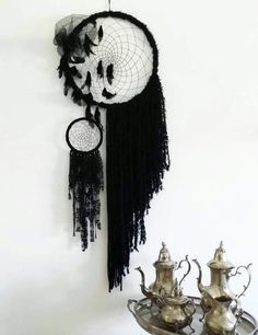 Check out this item in my Etsy shop https://www.etsy.com/uk/listing/520856961/black-boho-dream-catcher-boho-bedroom