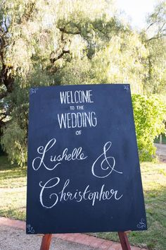 Welcome sign @ Chateau Dore Winery