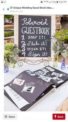 Another unique idea for guest book