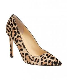 Ivanka Trump Carra Pump: A refined silhouette combined with a calf hair leopard print make these stilettos sophisticated and fun all at the same time.