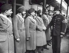 Pilots of the Indian Air Force were welcomed by London police, October 1940