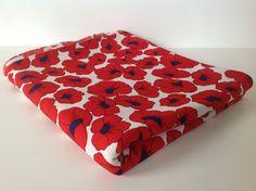 Vintage Red Poppy Fabric