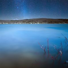 Milky way over lake william