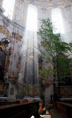 Inside Ettal Abbey in Bavaria, Germany (by saikofish)