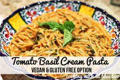 Tomato Basil Cream Pasta ...easy