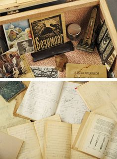Souvenirs and scientific notes found in Dmytre's suitcase. Abandoned Suitcases Reveal Private Lives of Insane Asylum Patients Insane Asylum Patients, Willard Asylum, Everybody Hurts, The Book Thief, Private Life, The Life, Abandoned, The Past, Suitcases