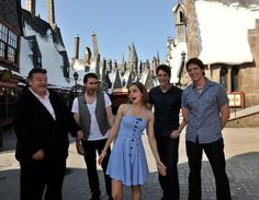 Some of Hogwarts' finest lol. Believe it or not the man on the far left is Hagrid!