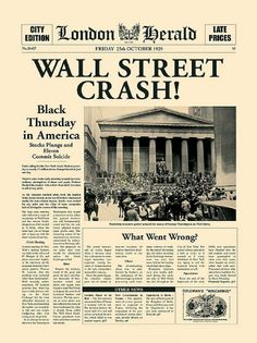 When the New York stock exchange crashed it had a devastating effect on Germany. It was almost as if the US had took away the carpet from Germany's feet as they recalled their loans which Germany was currently thriving on. Germany was actually hit the worst and quickly fell into a depression which helped Hitler in many ways to become chancellor...