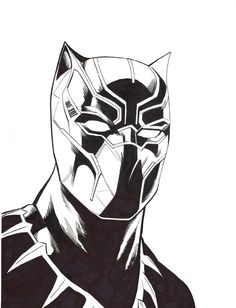 Black & White Black panther drawing sketch will hold you to draw now.