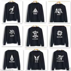 KPOP-EXO-Hoodie-12-Members-New-Logo-Luhan-Baekhyun-Chanyeol-Sweater-Pullover