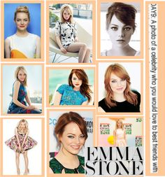 """emma stone♥"" by rhiannonxox on Polyvore"
