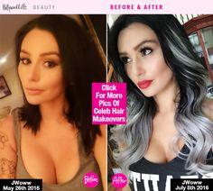 JWoww Shows Off Gray Ombré Locks — See Her HairMakeover