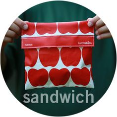 Lunch Skins Reusable Sandwich Bags Green Eco Friendly Baggies