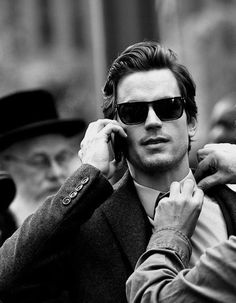 Matt Bomer. With a hasidic guy in the background. Just an epic picture.