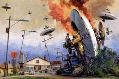 John Berkey ficção científica ilustração star wars