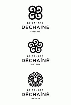 Branding Canard Déchaîné by Nicolas Baillargeon, via Behance I'd vote for the middle one