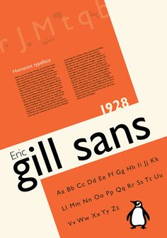 Gill Sans Typographic Poster by Andrew Nascimento, via Behance