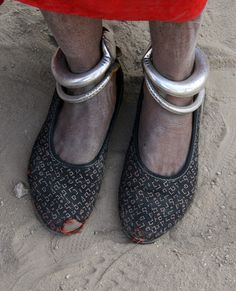 India   Details; woman's anklets. Rajasthan.   ©Rudi Roels