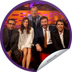 The Graham Norton Show: Steve Carell, Kristen Wiig, Chris O'Dowd & Josh Groban. All the awesome in this photo!!