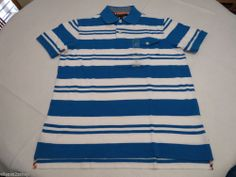 Men's Tommy Hilfiger Polo shirt stripe 7845157 Reef Turquoise XL slim fit pocket #TommyHilfiger #polo
