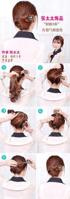 hairstick updo tutorial