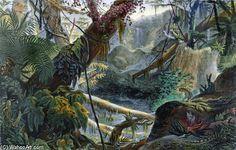 Valley In The Serra Do Mar by Jean Baptiste Debret (1768-1848, France)