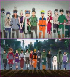 Past and present. ♥ (Naruto)