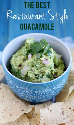 The BEST guacamole recipe! Simple and fresh, with garlic, lemon, cilantro, and red onion. #avocado