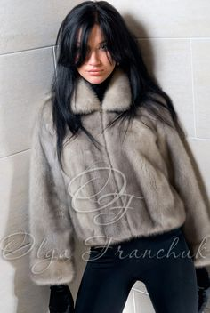 Gray Mink Fur Jacket