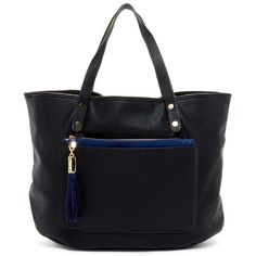 Ryan Tote ($50) ❤ liked on Polyvore featuring bags, handbags, tote bags, black, tote bag purse, tote purse, tote hand bags, zip top tote bag and handbags totes