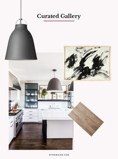 You love perusing art galleries, and you have a strong discerning eye. You love clean lines and simple color palettes. Curate your kitchen island as you would an exhibition—with monochrome colors, chic kitchen accents, and a few art pieces from your own collection.
