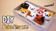 Learn how to make DIY Neko Atsume Pom Pom without any pom pom maker devices! I will teach you how to make your own pom pom maker by using recycled box( tissu...