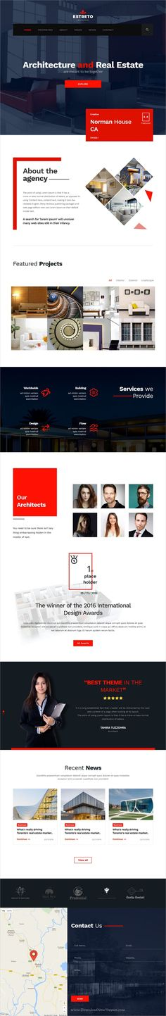 Estreto is a clean and modern design 9in1 responsive HTML5 #bootstrap template for real estate, property, #architecture and construction company website download now➩ https://themeforest.net/item/estreto-real-estate-property-architecture-construction-html5-template/19488136?ref=Datasata