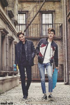 HQ scans of EXO for Vogue Girl (aka Kolon Sport pictorials), November issue 2014: exochocolate