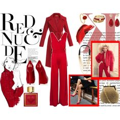 """Red & Nude"" by yamyiy on Polyvore"