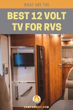 When The Rain Hits And Being Outdoors On Your Camping Trip Isn T Possible Having A Nice 12 Volt Rv Television Comes In Handy Ques Rv Tv Rv Camping Essentials