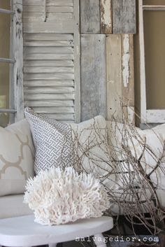 rustic coastal shutter decor #shutters #coastal #rustic #itsbeenshuttered