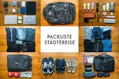 Die perfekte Packliste für Städtereisen in Europa. Woran du denken musst, was du unbedingt einpacken solltest. So gelingt deine Städtereise!