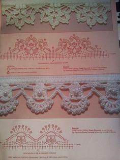 Crochet y dos agujas: Puntillas encantadoras al crochet