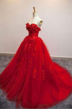 Strapless Prom Dresses#StraplessPromDresses Red Prom Dress#RedPromDress Fashion Prom Dresses#FashionPromDresses Custom Prom Dresses#CustomPromDresses