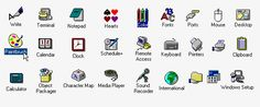 Know Your Icons, Part A Brief History of Computer Icons Microsoft Icons, Microsoft Windows, Windows Themes, Windows 98, Pixel Art, Iphone Home Screen Layout, Folder Icon, Iphone App Design, Computer Icon