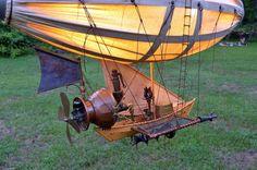 "steampunktendencies: ""H.M Airship ""Spirit"" by Rich Plotczik http://goo.gl/SlBq0a Credit & Source found by Steampunk Tendencies Community """