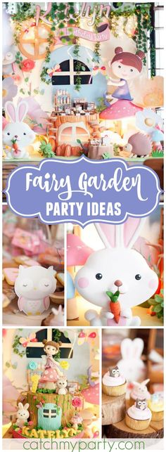 Wow! What an incredible fairy garden birthday party! See more party ideas at CatchMyParty.com!