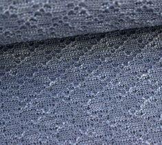 Strickstoff - Rautenmuster - Feinstrick - Blau