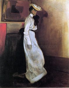 Alfred Henry Maurer Jeanne in Interior hand painted oil painting reproduction on canvas by artist Winslow Homer, Oil Painting Reproductions, Fashion Painting, High Society, French Artists, American Artists, Art World, Modern Art