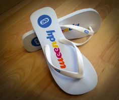 #corporateflipflops, #weendy #weendyapp,  corporate event flip flops,  have your brand repeated at the beach a thousand times with every step taken #fullcolorflipflops