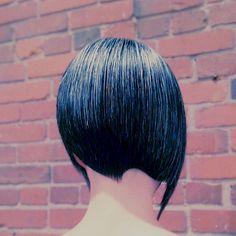 short asymmetrical haircut for straight hair